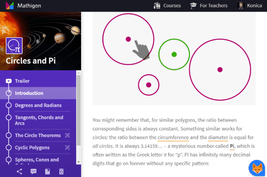 Online Math lessons with illustrations