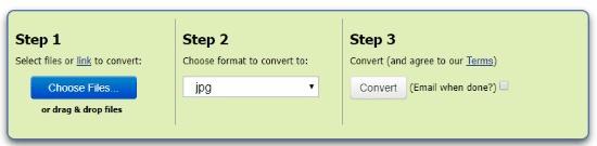 Online XCF to JPG converter