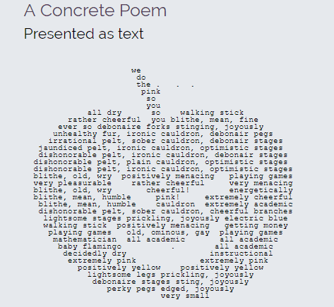 Online concrete poem maker
