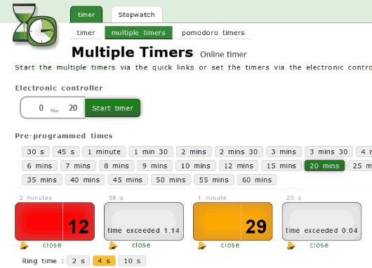 Online-timers.com website