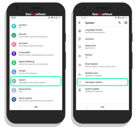 inbuilt screen recorder in android q