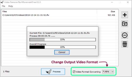 auto-remove still parts from videos