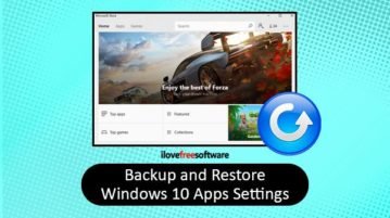 backup and restore windows 10 apps settings