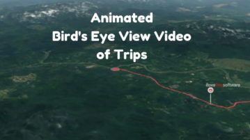 Create Bird's Eye View Video of a Trip on Map
