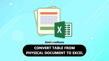 convert table from document to excel