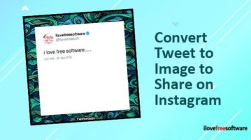 convert tweet to image to share on instagram