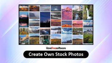 create own stock photos