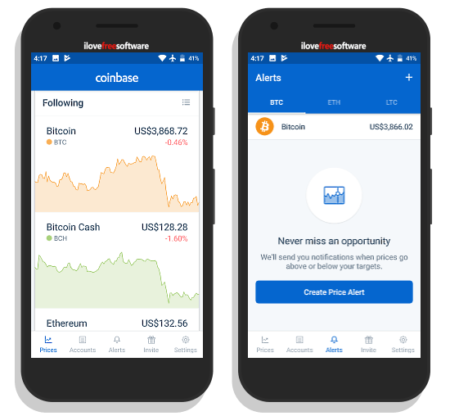 cryptocurrency price tracker app coinbase
