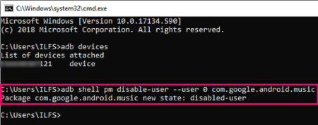 disable system apps on android without root