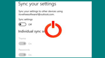 disable sync settings for microsoft account in windows 10