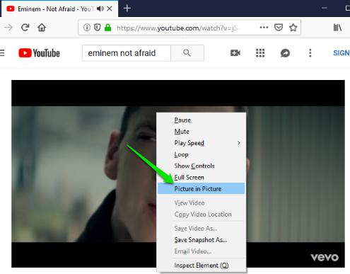 double right-click on video and select picture in picture option