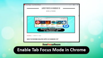 enable focus mode for tab in chrome