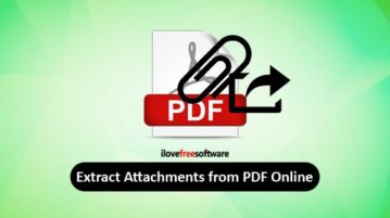 extract attachments from pdf online
