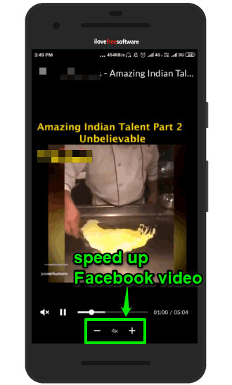 facebook video speed up option visible