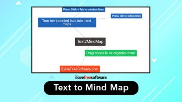 free text to mind map tool