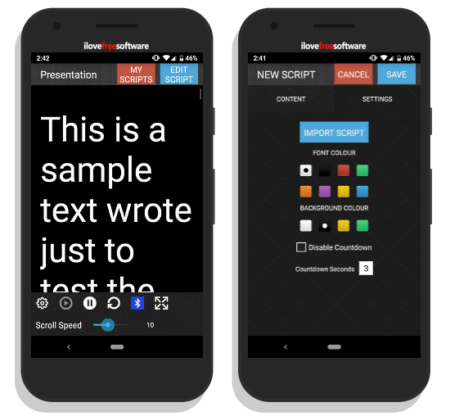 free teleprompter android app