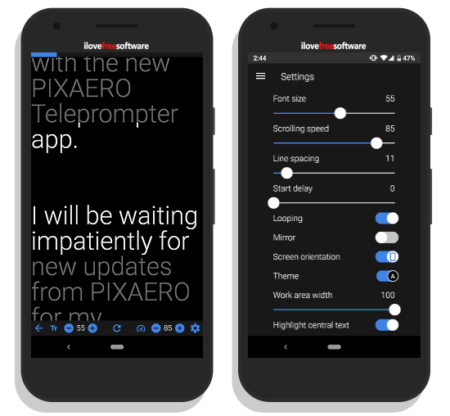 free teleprompter in android