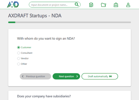 generate legal documents for startup for free