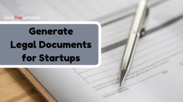 Generate Legal Documents for Startups Free in Minutes: AXDRAFT