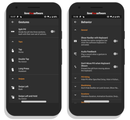 navigation gestures by xda developers