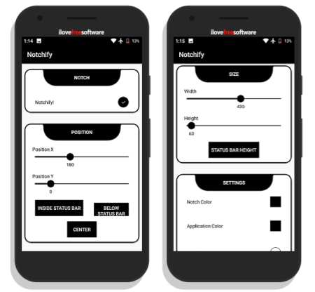 simulate display cutout on android