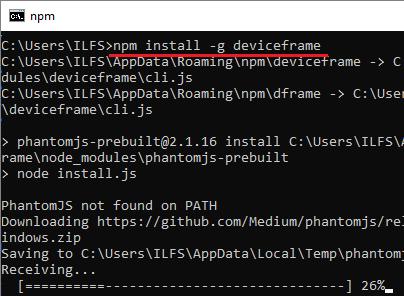 npm install device frame