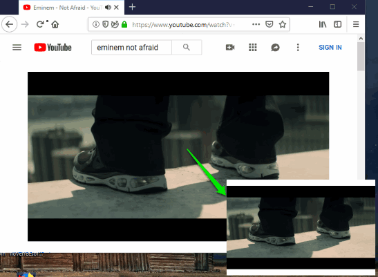 picture in picture mode enabled in firefox