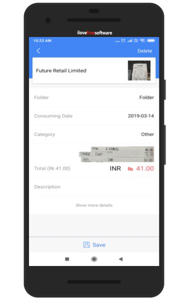 free android app for receipt scanning  reading to store in
