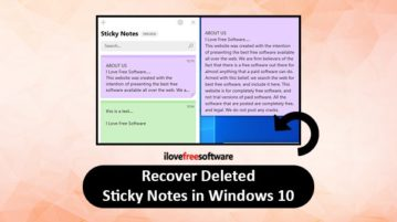 recover deleted sticky notes windows 10