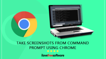 take screenshot from command prompt using chrome