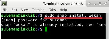 wekan install via snap
