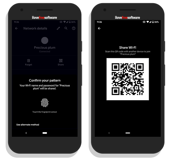 share wifi via qr code