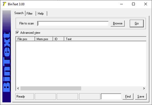 BinText interface