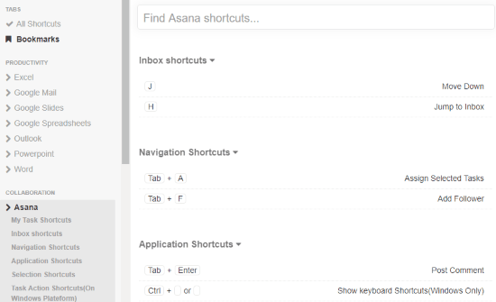 Bookmark shortcuts with one click