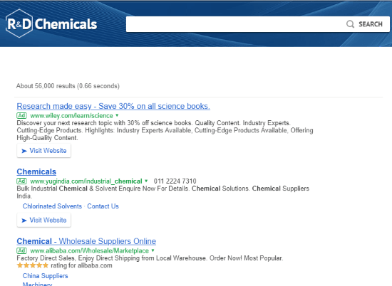 Chemistry search engine