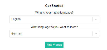 Choose the native and new language