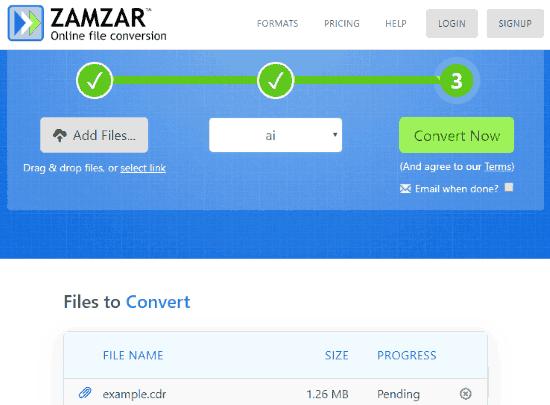 Convert CDR to AI