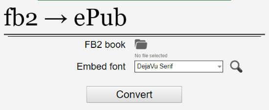 Convert FB2 to EPUB