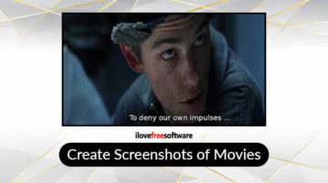 Create screenshots of movies