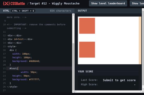 CssBattle coding