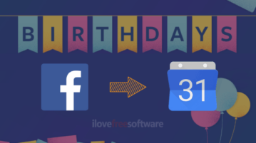 Export Facebook Birthdays
