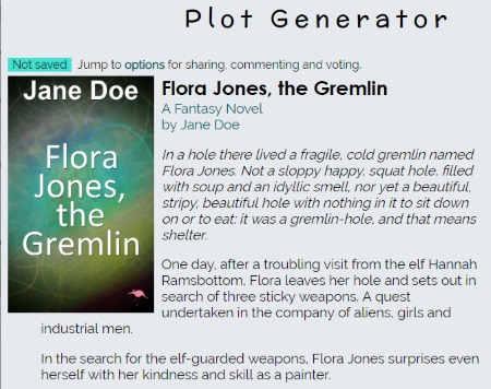 Fantasy plot generator