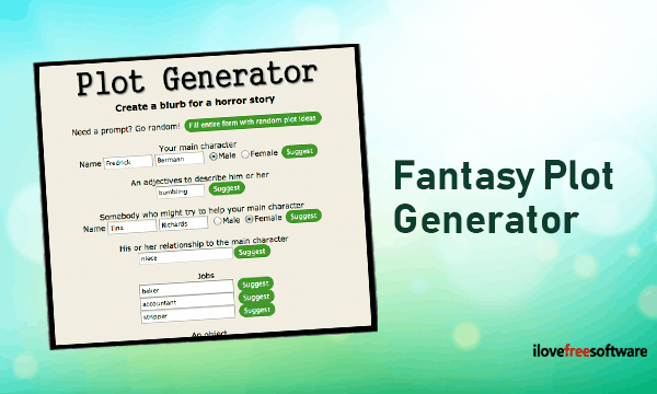 Fantasy Plot Generator to Create Stories with these Free