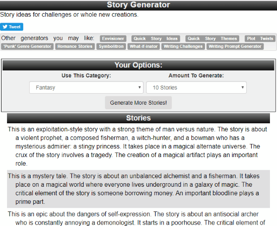 Fantasy Plot Generator to Create Stories with these Free Websites