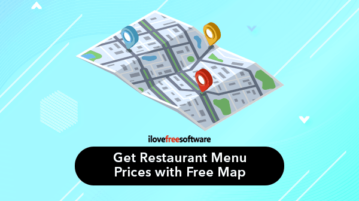 Get restaurant menu prices with free map