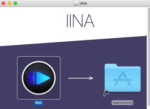 IINA move to applications folder