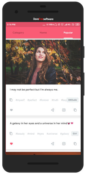 Instagram Caption Generator Android App