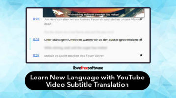 Learn new language with YouTube video subtitle translation