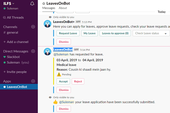 Leaves on Bot in action
