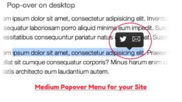 Medium Popover menu for your site